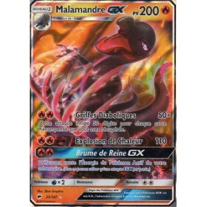 Malamandre GX Carte Pokemon Nintendo.