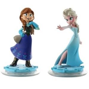 Elsa et Anna 2 figurines Disney Infinity Reine des Neiges