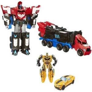 Optimus prime et Bumblebee Transformeurs.