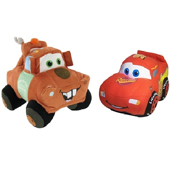 Flash Mcqueen et Martin 2 Peluches Disney Pixar