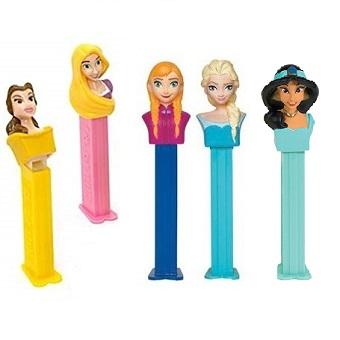 5 PEZ Princesses Disney