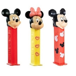 3 PEZ Disney Mickey et Minnie