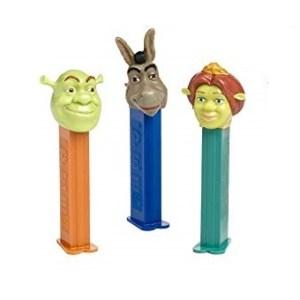 PEZ Shreck + Fiona + l'Âne