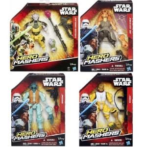 Hero Mashers Star Wars 4 figurines Jar Jar Binks+Bossk+Greedo+Garazeb Orrelios
