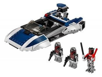 LEGO STAR WARS 75022 Speeder Mandalorien en parfait état complet