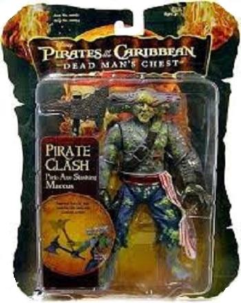 Maccus figurine Pirates des caraïbes Dead Man's chest 2006 Pirate Clash Pick-Axe Slashing Neuf