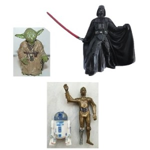 Star Wars 2004 4 figurines LFL