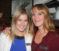 Royal LePage Coast Capital Realty Realtors® Tasha Noble (left) and Saira Waters hosted a networking event to benefit local women's shelters.