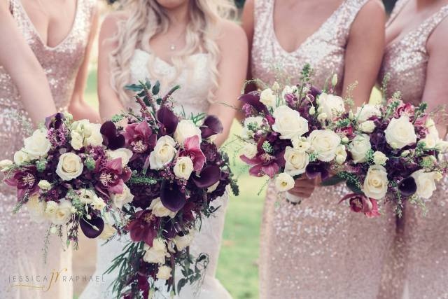 Jessica Raphael Wedding Photography bridesmaids bouquet