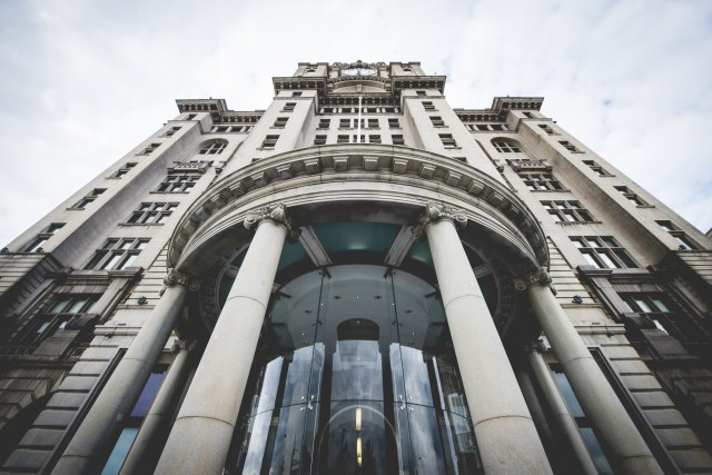 Entrance of the Royal Liver Building