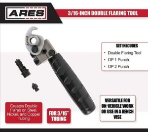 The ARES 18019 instrument is the best double flaring tool for the cash. Since you don't have to analyze a double flare tool versus a single flare device any longer. This toolset accompanies both reinforcement highlights. Its five connectors upgraded the ability of what you can do with a flare instrument. The sizes are – ¼ inch, 5/16-inch, half-inch, 3/16-inch, 3/8 inch. All connectors spread measurement sizes of 4.8mm to 12.7mm. Without the flexible connectors, you will get a shaper that can cut up to1/8 to 5/8-inch substantial. If we talk about the quality, the whole set made with high fixings is worth saying. As like the designed weight created with threatening to warm steel and the swivel is made with composite steel, which also has chrome-plating. All can restrict crushing suitably. It is much the same as an expert double flare tool with the goal that it takes a shot at aluminum, copper, metal, magnesium, and on delicate steels. Other than the presentation and quality, the makers are likewise going to help you with reliable assistance. Simply buzz them if you discover any issue in the one that you are going to purchase. They will deal with it further.