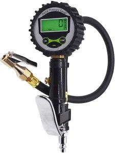 Digital Tire Inflator 200 PSI Pressure Gauge for Motorcycle Bike