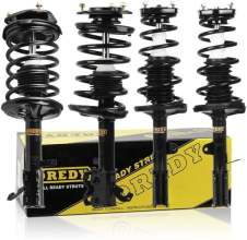 OREDY Front and Rear Complete Assembly Coil Springs Shock Struts Set