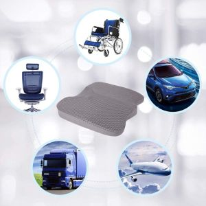 LARROUS Car Memory Foam Heightening Seat Cushion