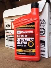 Motorcraft SAE 5w30 Synthetic Blend