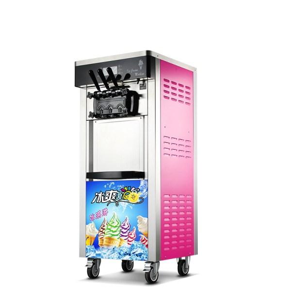 Mesin Es Krim 3 Keran ROYAL ICR-BQ808 Pink