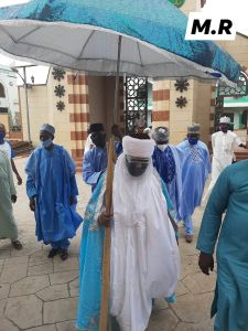 PHOTO NEWS: New Pictures of Emir of Ilorin Wearing Face Mask, Shield