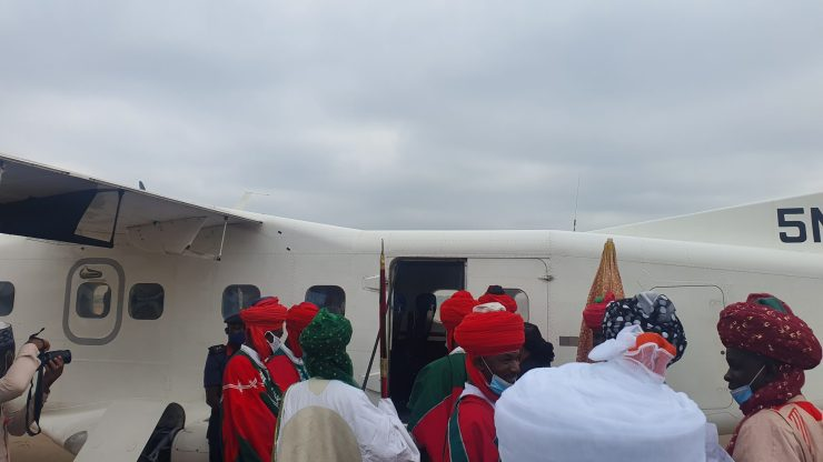 (PHOTOS) EMIR OF KANO ARRIVES ILORIN