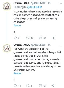 Nigerian students criticise ASUU after the union's chairman asked for their cooperation
