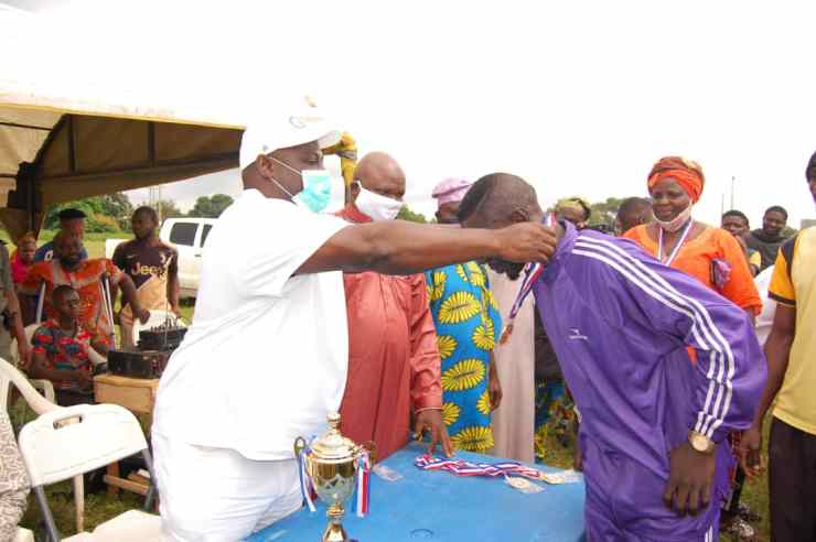 COVID-19: Gbenga Power Foundation donates relief materials, cash, hosts football match in Kwara