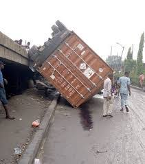 Two women feared dead as container falls in Lagos