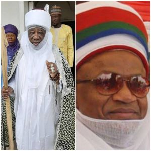 Emir of Ilorin salutes Etsu Nupe at 68