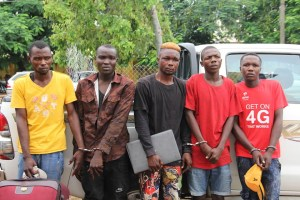 Police arrest 5-man armed robbery syndicate that matcheted 23-year-old woman in Bauchi