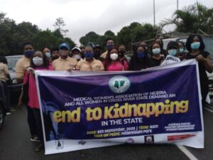 Medical Women, CSO's protest over kidnapping in Calabar