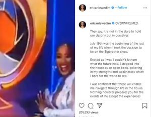 """""""Life threw lemons at me and the Elite league made Margaritas with it"""" – Erica first post message to her fans since her disqualification"""