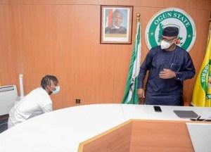 Governor Abiodun donates house and N5m cash to BBNaija winner, Laycon (photos)