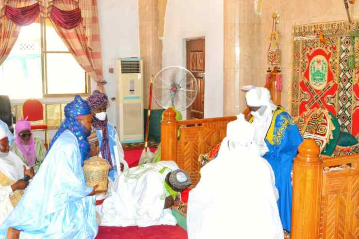 PHOTO NEWS: Ilorin Emirate Youths visit Emirs of Kano, Bichi