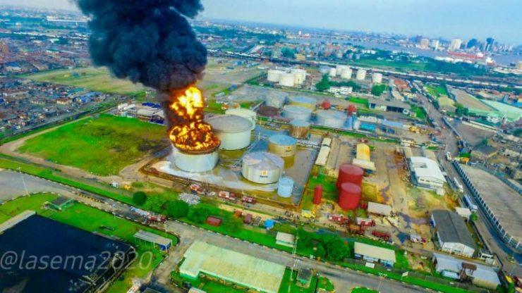 Tank Farm fire: LASEMA urges calm, says fire under control