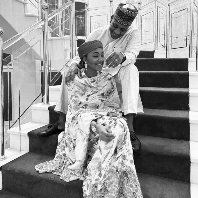 President Buhari's Daughter, Zahra And Husband Celebrate 4th Wedding Anniversary