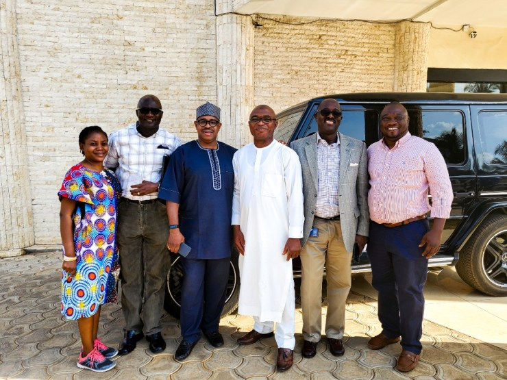 First Bank team visits KAM Holding CEO, Kamoru Yusuf in Ilorin