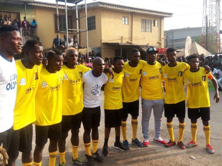 """Musician """"Sean Tero"""" rehabilitates stadium in Lagos community"""