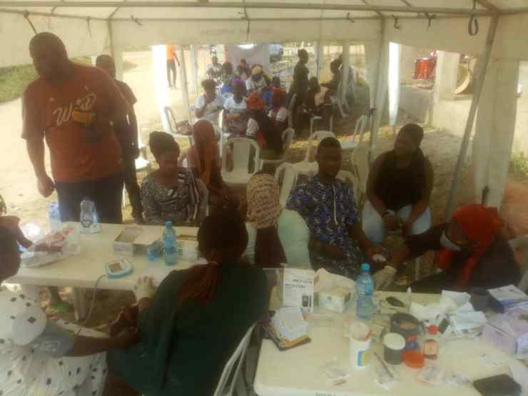 Over 100 individuals enjoyed free medical check in Lagos