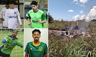 Photos of the four Brazilian soccer players killed in plane crash alongside club president as they traveled separately from rest of the squad after testing positive for COVID