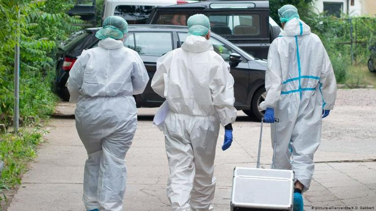 Germany's coronavirus cases, deaths well down on New Year's Day