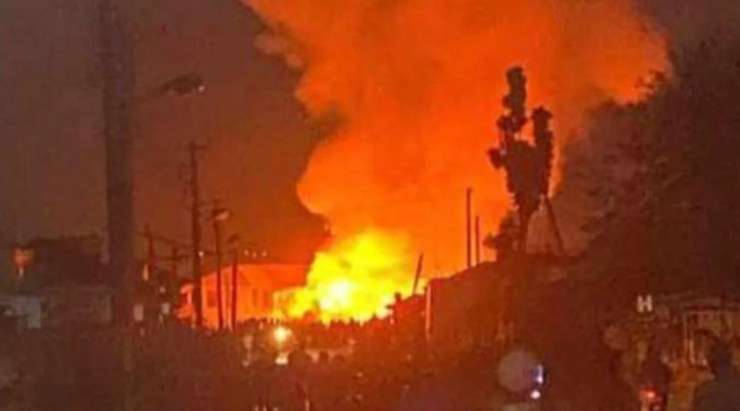 Nigeria Immigration Service headquarters in Abuja on fire
