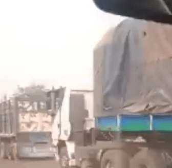Trucks carrying foodstuff from the north allegedly stopped from entering the south-west (video)