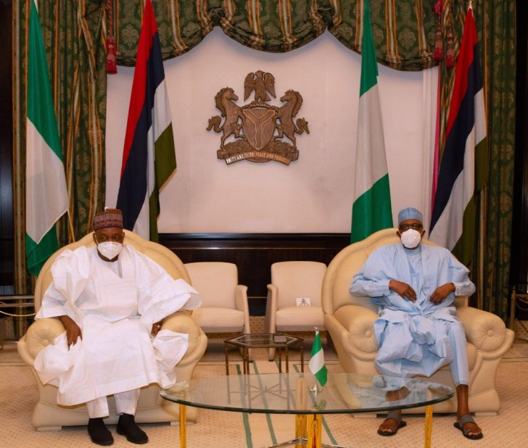 (PHOTOS) Buhari, Namadi Sambo meet in Aso Rock villa