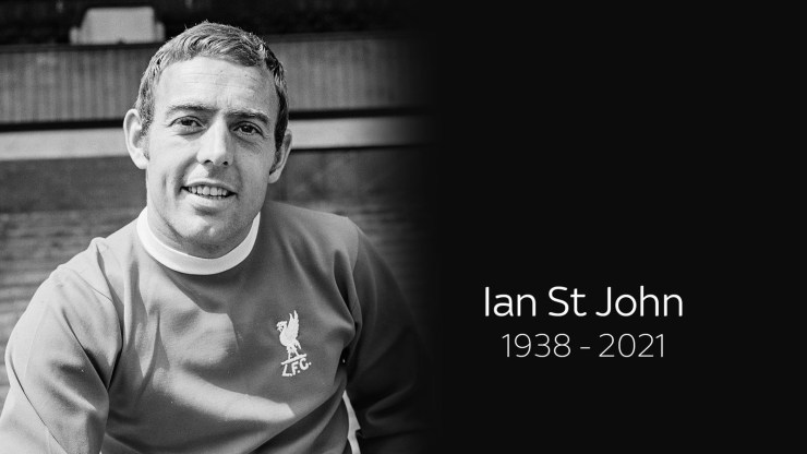 Ian St John, Liverpool forward and TV personality dies at 82