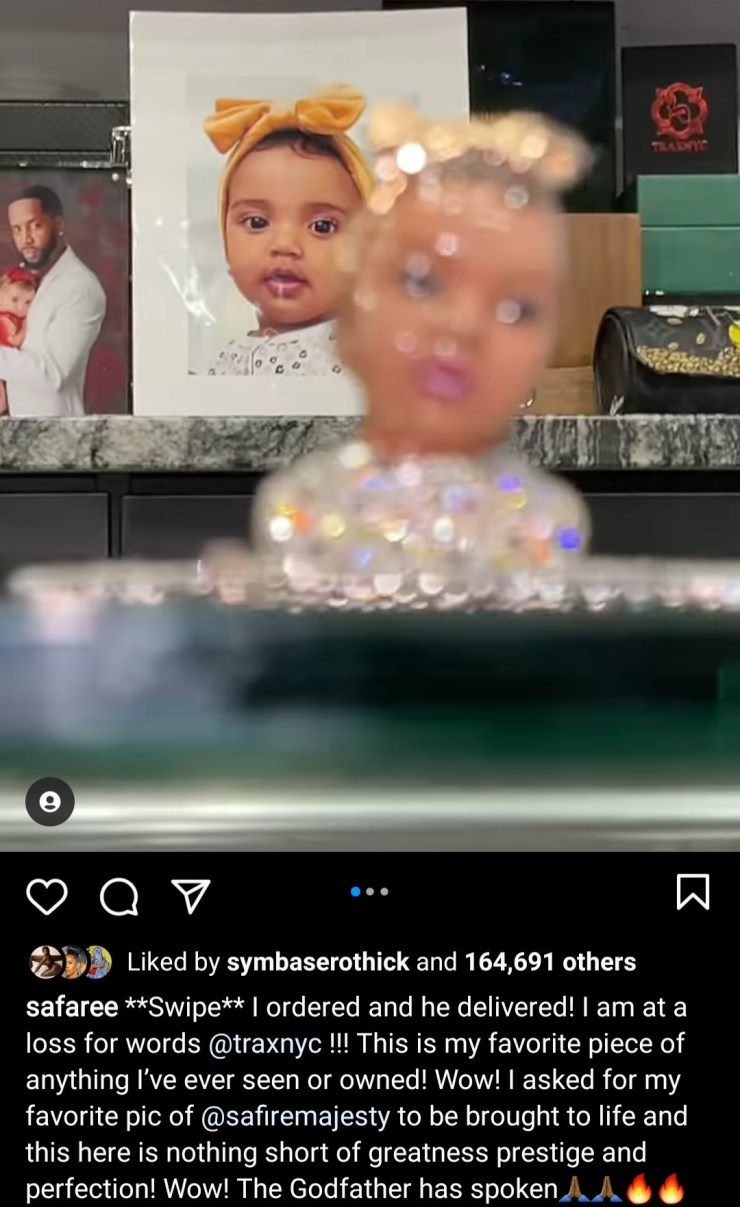 Safaree gets jewellery of his daughter's face