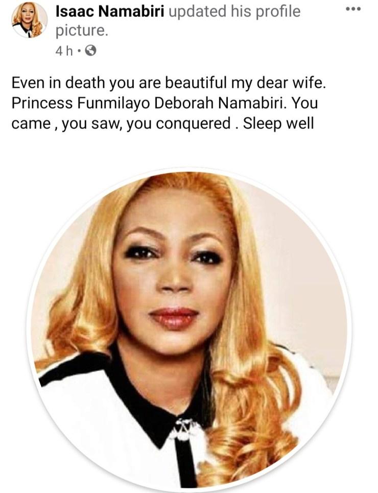 Hair entrepreneur,  Funmi Namabiri pouplarly known as Funmi Hair dies