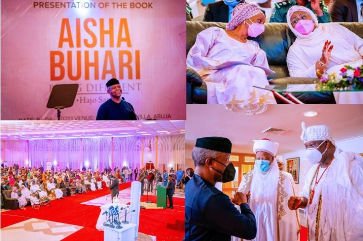 Aisha Buhari's book launch: Dangote gives N30m, Tinubu N20m (Full list)