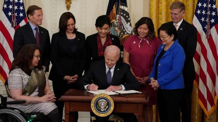 President Biden signs anti-Asian hate crimes legislation amid surge of attacks on Asian Americans