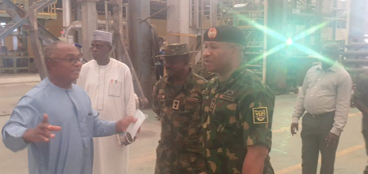 PHOTO NEWS: Army Brigade Comdr visits KAM Holding CEO, Kamoru Yusuf