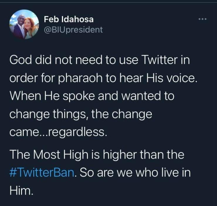 SHOCKING.....Nigerian Pastor Tweets after Twitter-Ban by Buhari