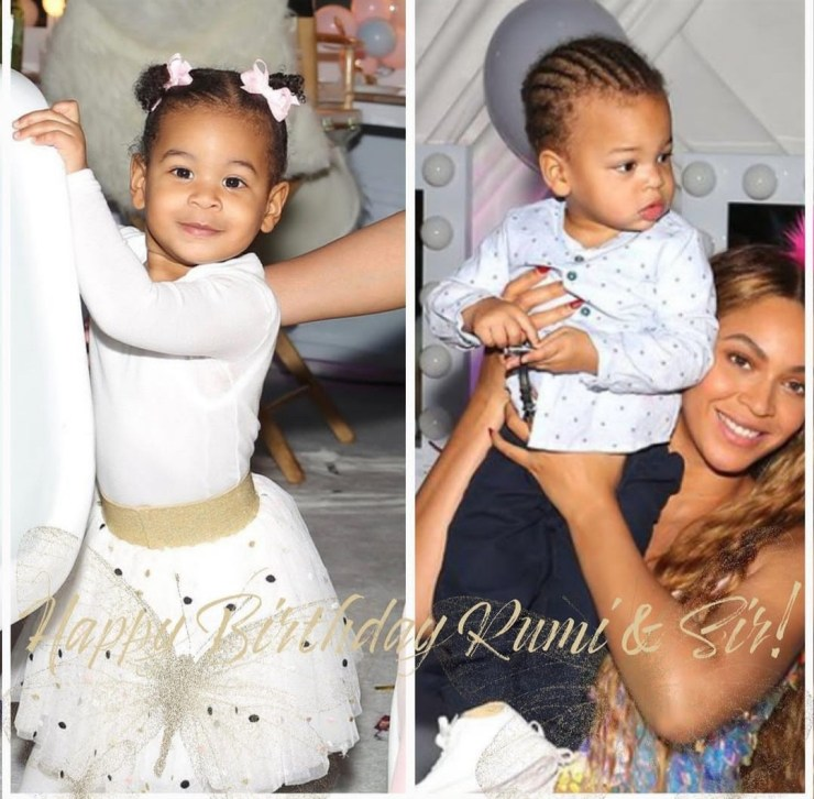 """""""What's better than 1 gift... 2"""" Beyonce celebrates her twins Rumi and Sir as they turn 4"""