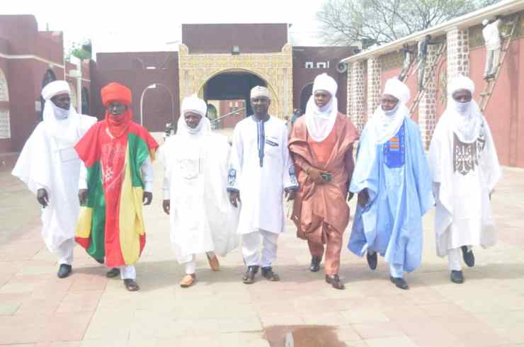 PHOTO NEWS: Kano Emir receives Ilorin Emirate Youths on Condolence Visit